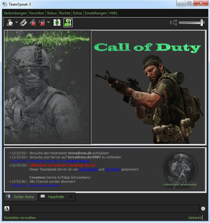 Call of Duty - Teamspeak3 Design